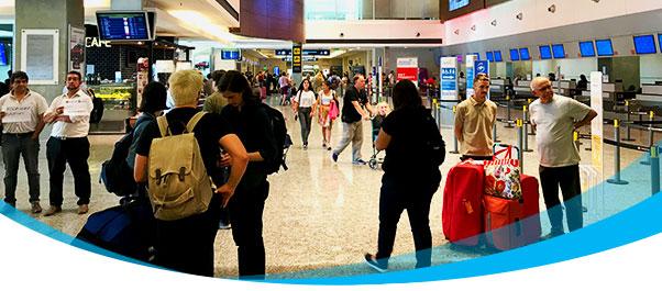 Más de un millón de pasajeros volaron en febrero en el país.