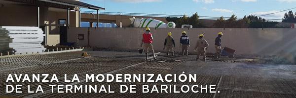 Avanza la modernización de la terminal de Bariloche.