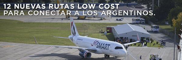 12 nuevas rutas low cost para conectar a los argentinos.