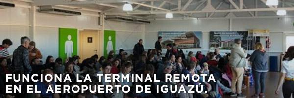 Funciona la terminal remota en el aeropuerto de Iguazú.