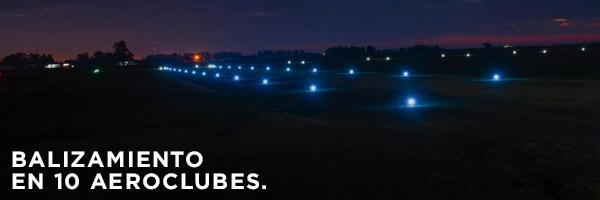 Balizamiento en 10 aeroclubes.